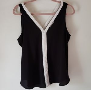 Black with white accent top